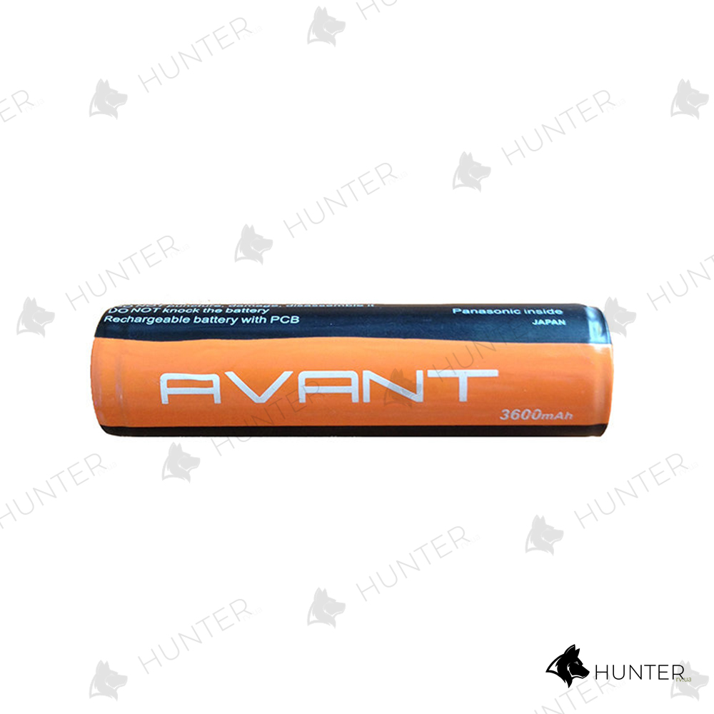 Акумулятор AVANT 18650 3600 mAh 3