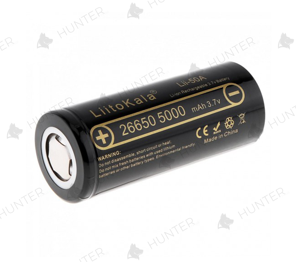 Акумулятор Liitokala 26650 (4500mAh) 3.7V