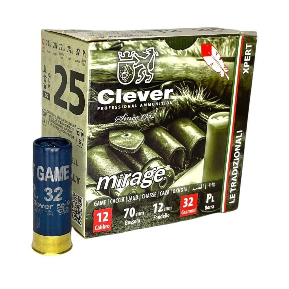 Патрон Clever Mirage T2 Xpert Game к.12/70